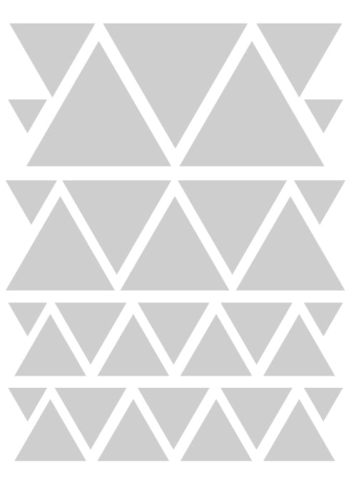 SILVER TRIANGLE WALL DECALS