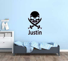 Load image into Gallery viewer, SKULL AND KNIVES WALL STICKER