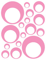 SOFT PINK BUBBLE DECALS