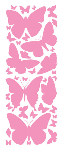 SOFT PINK BUTTERFLY WALL DECALS