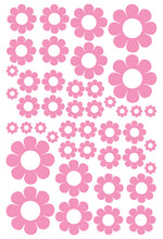 Load image into Gallery viewer, SOFT PINK DAISY WALL STICKERS