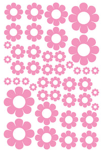 SOFT PINK DAISY WALL STICKERS