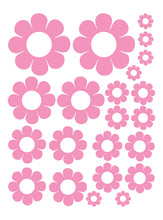 Load image into Gallery viewer, SOFT PINK DAISY WALL DECALS
