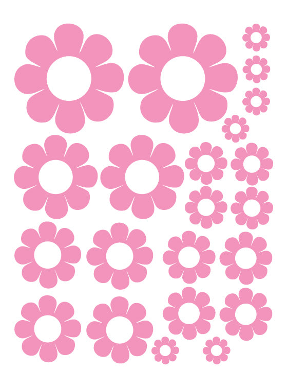 SOFT PINK DAISY WALL DECALS