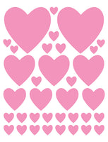 SOFT PINK HEART WALL DECALS