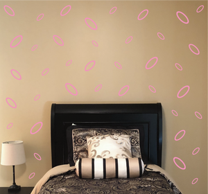 SOFT PINK OVAL WALL DECOR