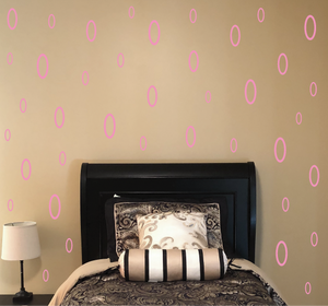 SOFT PINK OVAL DECALS