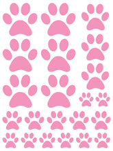 Load image into Gallery viewer, SOFT PINK PAW PRINT WALL DECALS