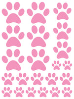 SOFT PINK PAW PRINT WALL DECALS