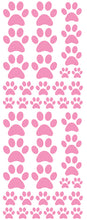 Load image into Gallery viewer, SOFT PINK PAW PRINT DECALS