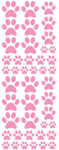 SOFT PINK PAW PRINT DECALS