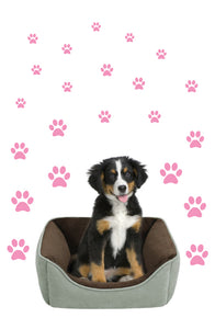 SOFT PINK PAW PRINT STICKERS