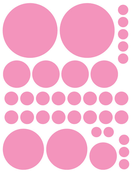 SOFT PINK POLKA DOT WALL DECALS