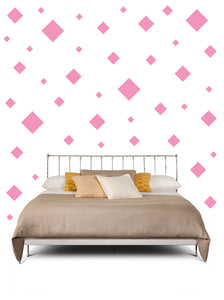 SQUARE WALL STICKERS IN SOFT PINK