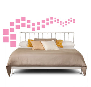 SQUARE WALL DECALS IN SOFT PINK