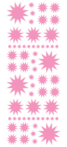 SOFT PINK STARBURST WALL STICKERS