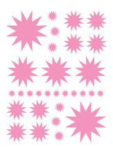 Load image into Gallery viewer, SOFT PINK STARBURST WALL DECALS
