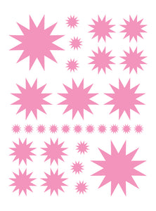 SOFT PINK STARBURST WALL DECALS