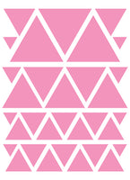 SOFT PINK TRIANGLE WALL DECALS