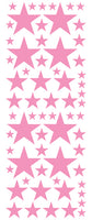 SOFT PINK STAR DECALS