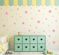 SOFT PINK STAR STICKERS