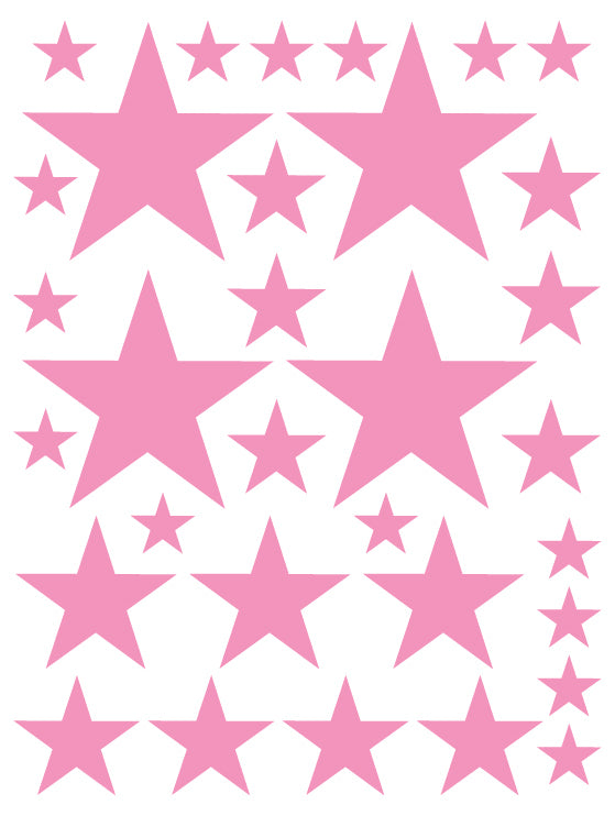 SOFT PINK STAR WALL DECALS