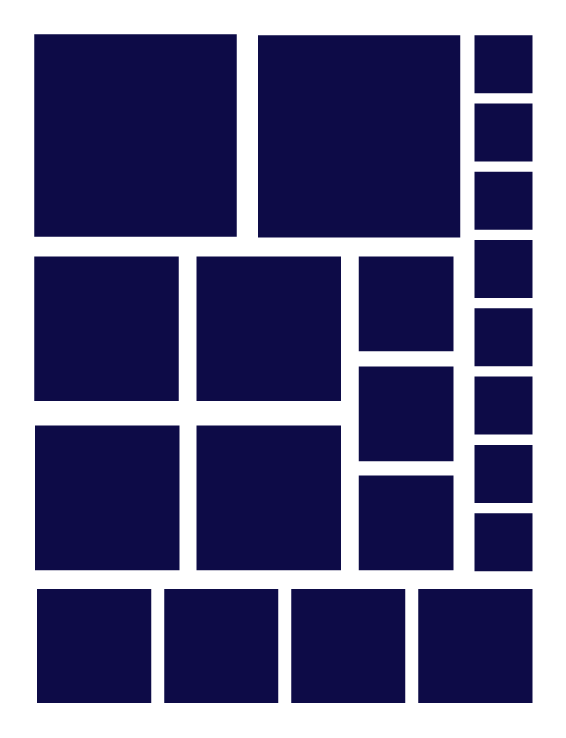 NAVY BLUE SQUARE WALL DECALS