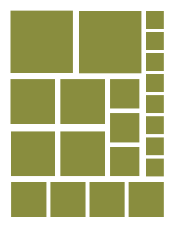 OLIVE GREEN SQUARE WALL DECALS