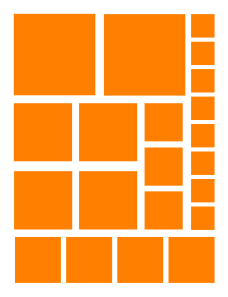 ORANGE SQUARE WALL DECALS