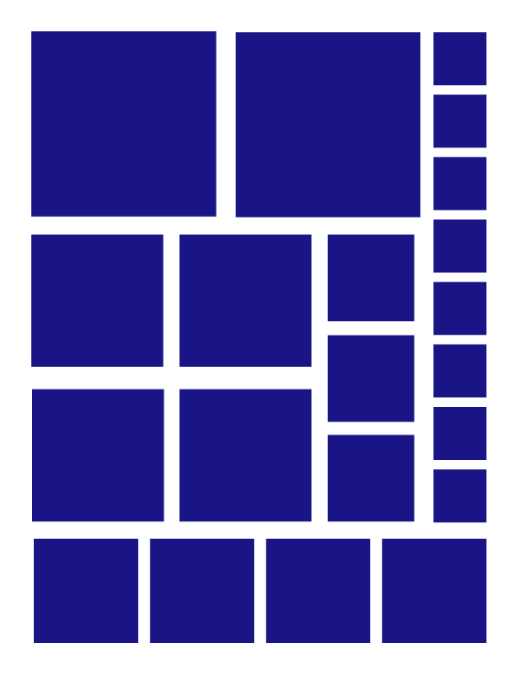 ROYAL BLUE SQUARE WALL DECALS