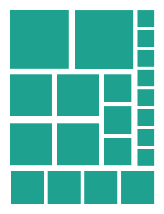 TURQUOISE SQUARE WALL DECALS