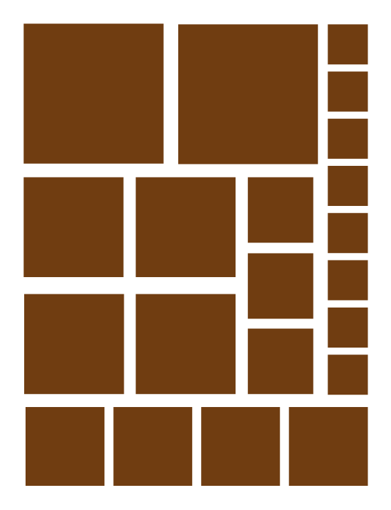 BROWN SQUARE WALL DECALS