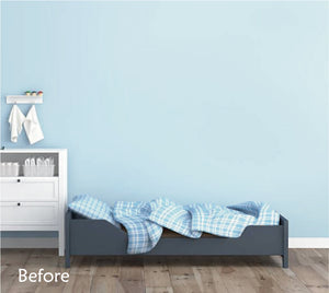 TURQUOISE STAR WALL STICKERS