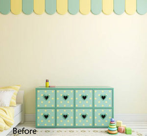 PALE YELLOW STAR WALL STICKERS