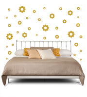 TAN DAISY DECALS