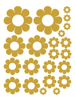 TAN DAISY WALL DECALS