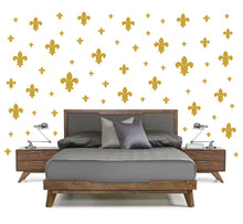 Load image into Gallery viewer, CARAMEL TAN FLEUR DE LIS WALL DECOR