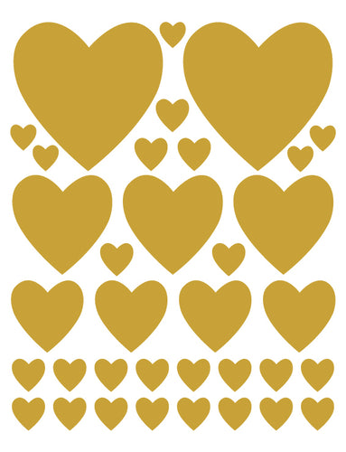 TAN HEART WALL DECALS