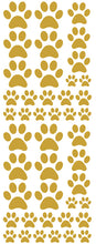 Load image into Gallery viewer, TAN PAW PRINT DECALS