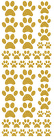 TAN PAW PRINT DECALS