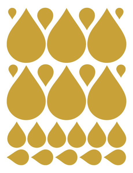 CARAMEL TAN RAINDROP WALL DECALS