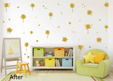 Load image into Gallery viewer, CARAMEL TAN PAINT SPLATTER WALL STICKER