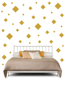 SQUARE WALL STICKERS IN CARAMEL TAN