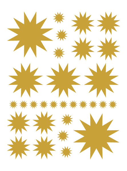 CARAMEL TAN STARBURST WALL DECALS