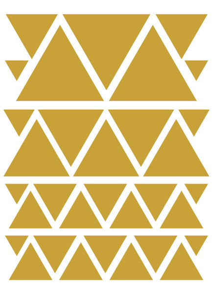 TAN TRIANGLE WALL DECALS