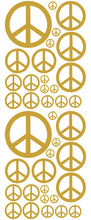 Load image into Gallery viewer, CARAMEL TAN PEACE SIGN DECAL