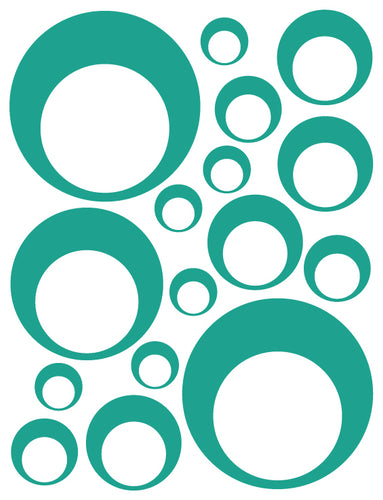 TURQUOISE BUBBLE DECALS