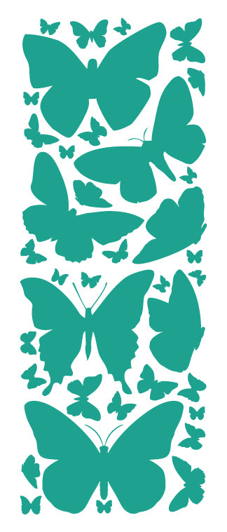 TURQUOISE BUTTERFLY WALL DECALS
