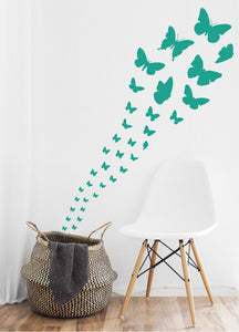 TURQUOISE BUTTERFLY WALL STICKERS