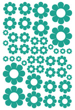 Load image into Gallery viewer, TURQUOISE DAISY WALL STICKERS